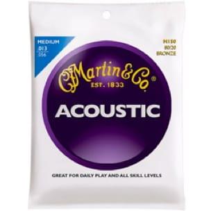 JEU de Cordes pour Guitare MARTIN FOLK Bronze medium - 13-56 - laflutedepan.com