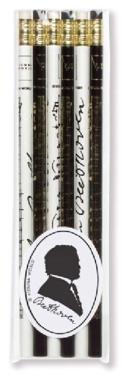 Set de 6 crayons - BEETHOVEN Cadeaux - Musique Accessoire laflutedepan