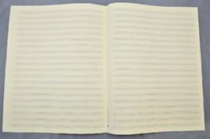 Papier à Musique - 20 portées - Format Jésus - laflutedepan.com