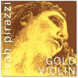 Corde violon EVAH PIRAZZI GOLD MI à boule tirant moyen laflutedepan