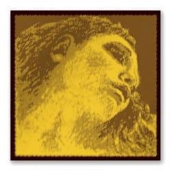 Corde : RÉ - EVAH PIRAZZI™ GOLD pour VIOLON - RÉ ARGENT à boule tirant MOYEN laflutedepan