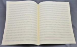 Papier à Musique - Spécial PIANO - Format Jésus - laflutedepan.com