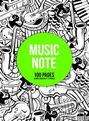 Cahier de Musique à spirale MIXTE : Portées et Grands Carreaux - MUSIC NOTE - laflutedepan.com