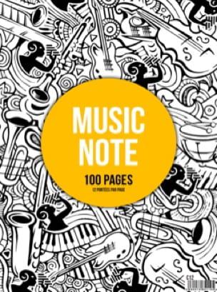 Cahier de Musique à spirale - 12 Portées - MUSIC NOTE - laflutedepan.com