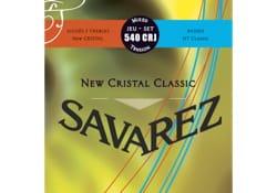 JEU de Cordes pour Guitare SAVAREZ CRISTAL CLASSIC ROUGE / BLEU tension mixte laflutedepan
