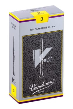 Anches pour Clarinette Sib VANDOREN® - Vandoren CR193 - Anches V12 Clarinette Si bémol 3.0 - Accessoire - di-arezzo.fr