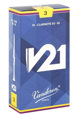 Vandoren CR803 - Anches V21 Clarinette Si bémol 3.0 laflutedepan