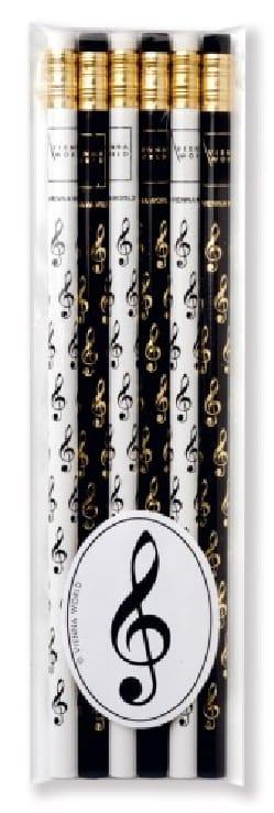 Set de 6 crayons - CLÉ DE SOL Cadeaux - Musique laflutedepan