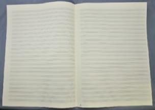 Papier à Musique - 24 portées - Grand Format - laflutedepan.com