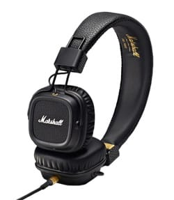 Casque Marshall Major MKII noir pour iphone, iPod, MP3 - laflutedepan.com