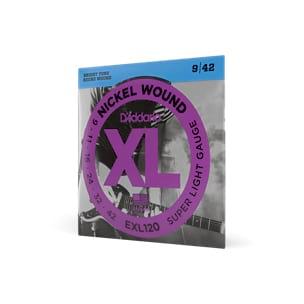 Cordes pour Guitare - 6 Strings EXL120 SET OF ADDARIO - Super Light 009-42 - Electric Guitar - Accessoire - di-arezzo.co.uk