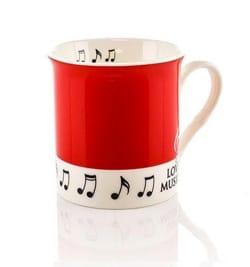 Cadeaux - Musique - Mug - Cup Red Love music - Accessoire - di-arezzo.com