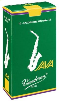Boite de 10 anches VANDOREN série JAVA pour SAXOPHONE ALTO force 1,5 - laflutedepan.com