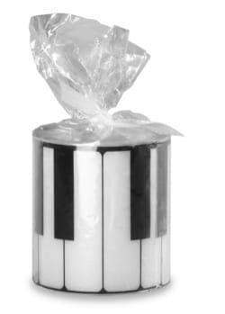 Bougie ronde - Clavier de Piano Cadeaux - Musique laflutedepan