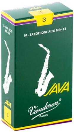 Boite de 10 anches VANDOREN série JAVA pour SAXOPHONE ALTO force 3 laflutedepan