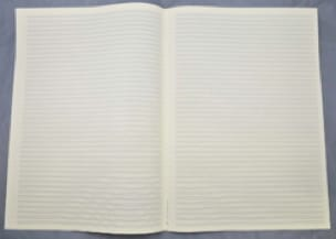 Papier à Musique - 44 portées - Grand Format - laflutedepan.com