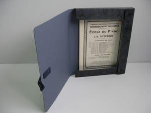Boîte à Partitions et Archives avec Cordelière - Noir Marbré laflutedepan