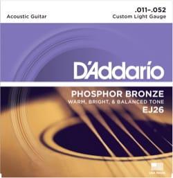 Cordes pour Guitare Acoustique - ADDARIO String Set - Custom Light 11-15-22-32-42-52 - Accessoire - di-arezzo.com