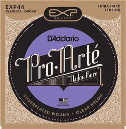 JEU de Cordes D'ADDARIO PRO ARTE - Extra Hard /Nylon Clair-Plaqué Argent laflutedepan