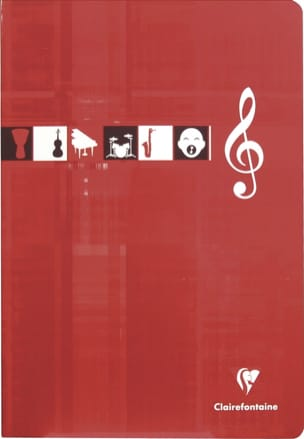 Papeterie Musicale - CLAIREFONTAINE Music Notebook - 10 staves - A4 size - Papier - di-arezzo.co.uk
