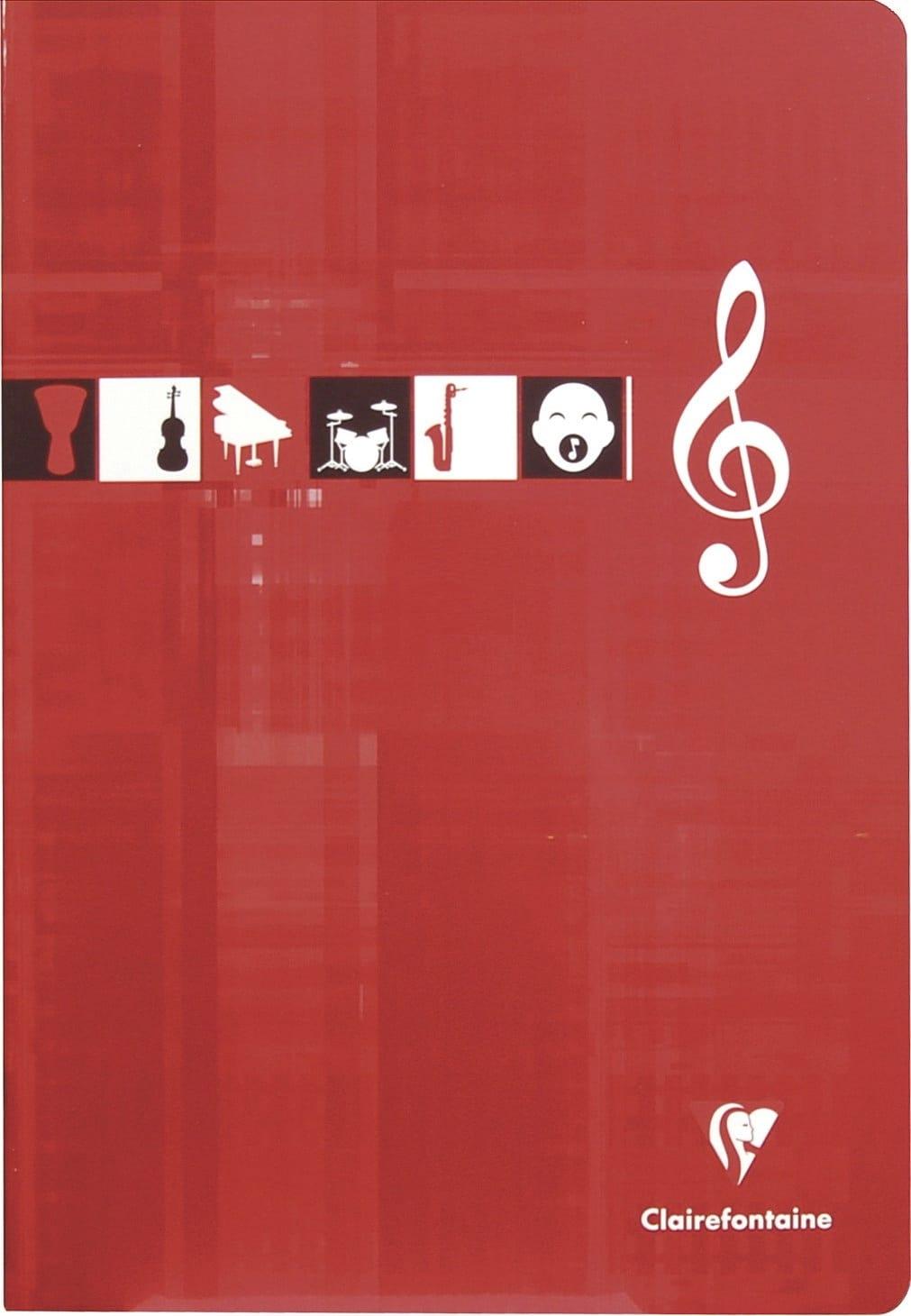 Cahier de Musique CLAIREFONTAINE - 10 portées - Format A4 - laflutedepan.com