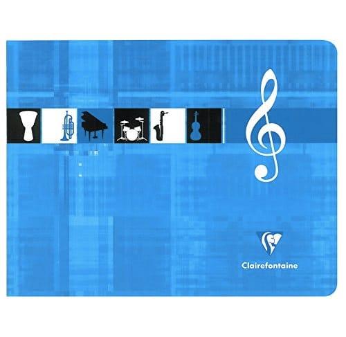 Cahier de Musique CLAIREFONTAINE - 6 portées - Format Italien - laflutedepan.com