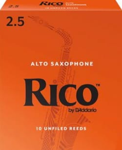 D'Addario Rico - Anches Saxophone Alto 2.5 laflutedepan