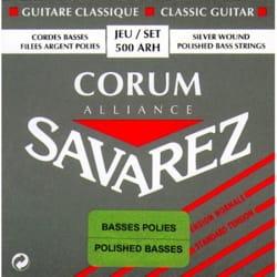 JEU de Cordes pour Guitare SAVAREZ ALLIANCE CORUM Basse polie tirant standard laflutedepan