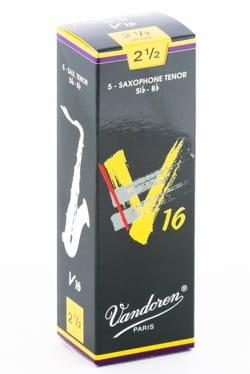 Boite de 5 anches VANDOREN série V16 pour SAXOPHONE TENOR force 2,5 laflutedepan