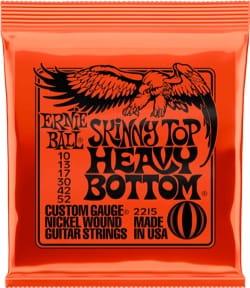 Cordes pour Guitare - Ernie Ball 2215 E-Gitarrensaiten Skinny Top Heavy Bottom 10-52 - Accessoire - di-arezzo.de