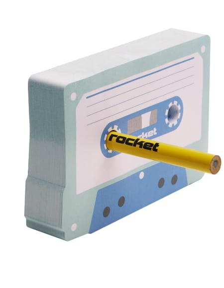 Post-it Cas-Set et crayon - Papeterie Musicale - laflutedepan.com