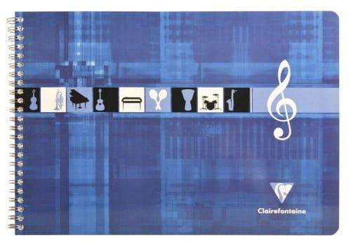 Cahier de Musique CLAIREFONTAINE - Format italien - laflutedepan.com