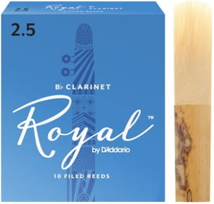 D'Addario Rico Royal - Anches Clarinette Sib 2.5 laflutedepan