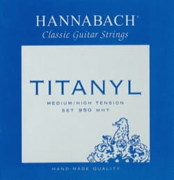 JEU de Cordes pour Guitare HANNABACH 950 TITANYL - Tension Medium/High laflutedepan