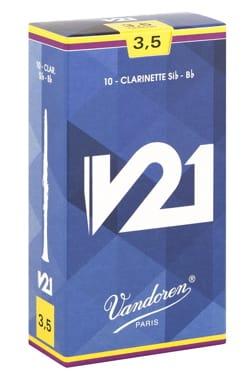 Anches pour Clarinette Sib VANDOREN® - Vandoren CR8035 - Anches V21 Clarinette Si bémol 3.5 - Accessoire - di-arezzo.fr