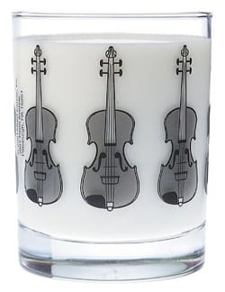 Verre avec motif violon Cadeaux - Musique Accessoire laflutedepan