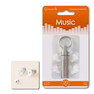 Protections auditives Crescendo Music - 20dB - laflutedepan.com