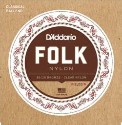 Cordes pour Guitare - ADDARIO FOLK NYLON String Set - Normal / Clear-Bronze 80/20 - Accessoire - di-arezzo.co.uk