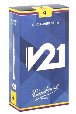 Vandoren CR804 - Anches V21 Clarinette Si bémol 4.0 laflutedepan