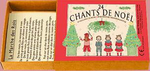 24 Chants de Noel Jeu musical pour enfant Livre laflutedepan