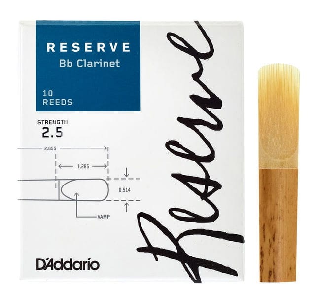 D'Addario Reserve - Anches Clarinette Sib 2.5 - laflutedepan.com