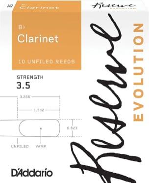 D'Addario Réserve Evolution - Anches Clarinette Si bémol 3.5 - laflutedepan.com