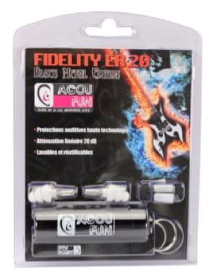 Protections auditives ACOUFUN - 20dB Black Metal Edition - laflutedepan.com