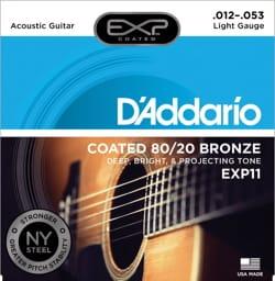 Cordes pour Guitare Acoustique - 6 String Set EXP11NY D'ADDARIO - Light 12-53 - FOLK GUITAR - Accessoire - di-arezzo.com
