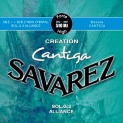 JEU de Cordes pour Guitare SAVAREZ CANTIGA CREATION BLEU tirant fort laflutedepan
