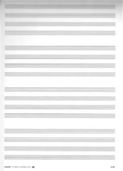 Raisin 16 Portées 4 par 4 Ivoire Papier à Musique Papier laflutedepan