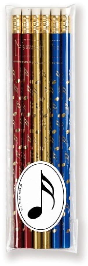 Set de 6 crayons colorés - DOUBLE CROCHE - laflutedepan.com