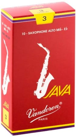Anches pour Saxophone Alto VANDOREN® - Packung mit 10 Blättern VANDOREN Serie JAVA RED für SAXOPHONE ALTO force 3 - Accessoire - di-arezzo.de