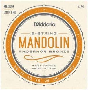 Jeu de cordes Mandoline D'Addario Medium, tirant 11-40 laflutedepan