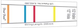 Barette de couleurs First Fret pour touche de VIOLONCELLE 4/4 - laflutedepan.com